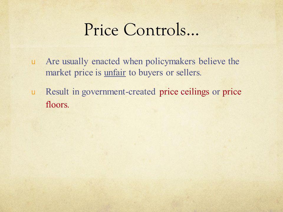Rent Control in the Long Run...