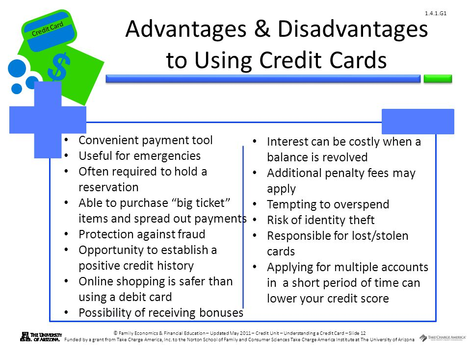 Credit Card © Family Economics & Financial Education – Updated May 2011 – Credit Unit – Understanding a Credit Card – Slide 12 Funded by a grant from