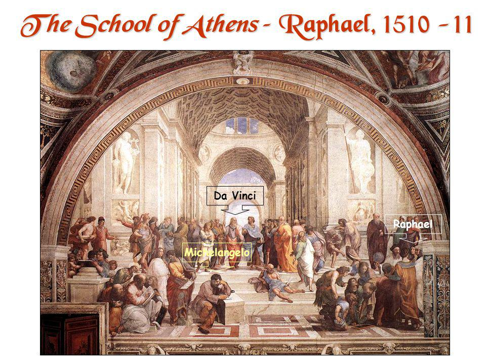 The School of Athens – Raphael, 1510 -11 One point perspective.