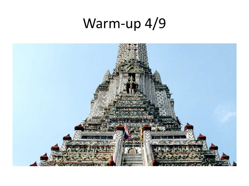 Warm-up 4/9