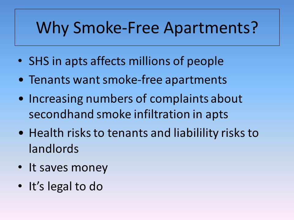 Smoke-free homes are the norm, not the exception.