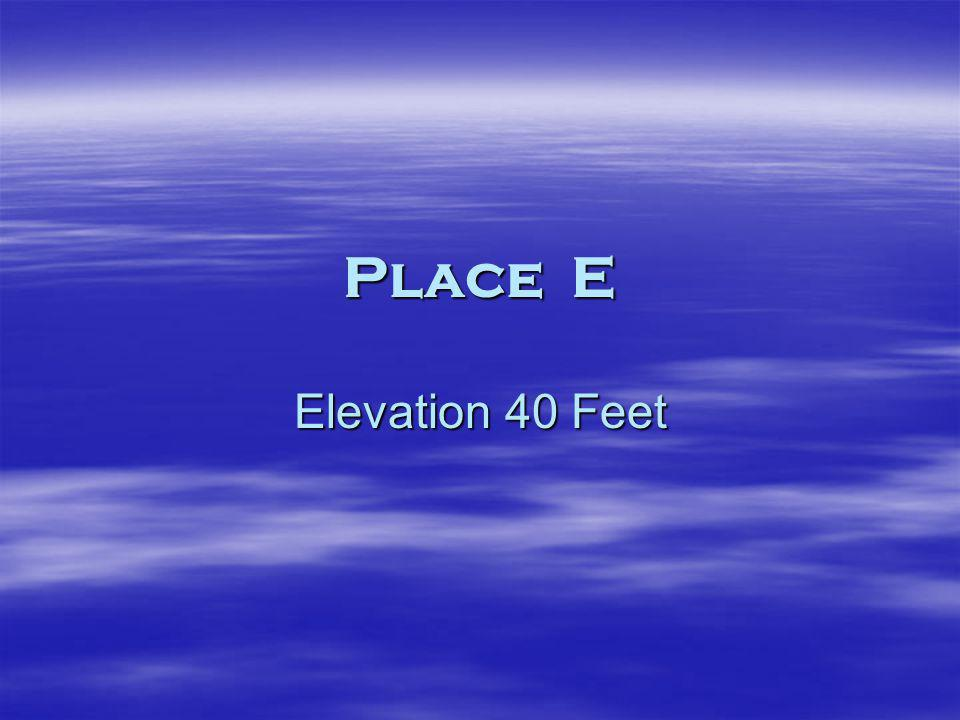 Place E Elevation 40 Feet