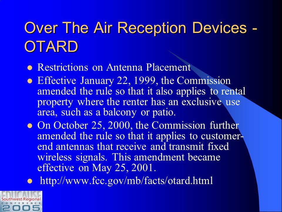 FCC Rules FCC Act of 1934 (47 USC, Sec. 1 et.