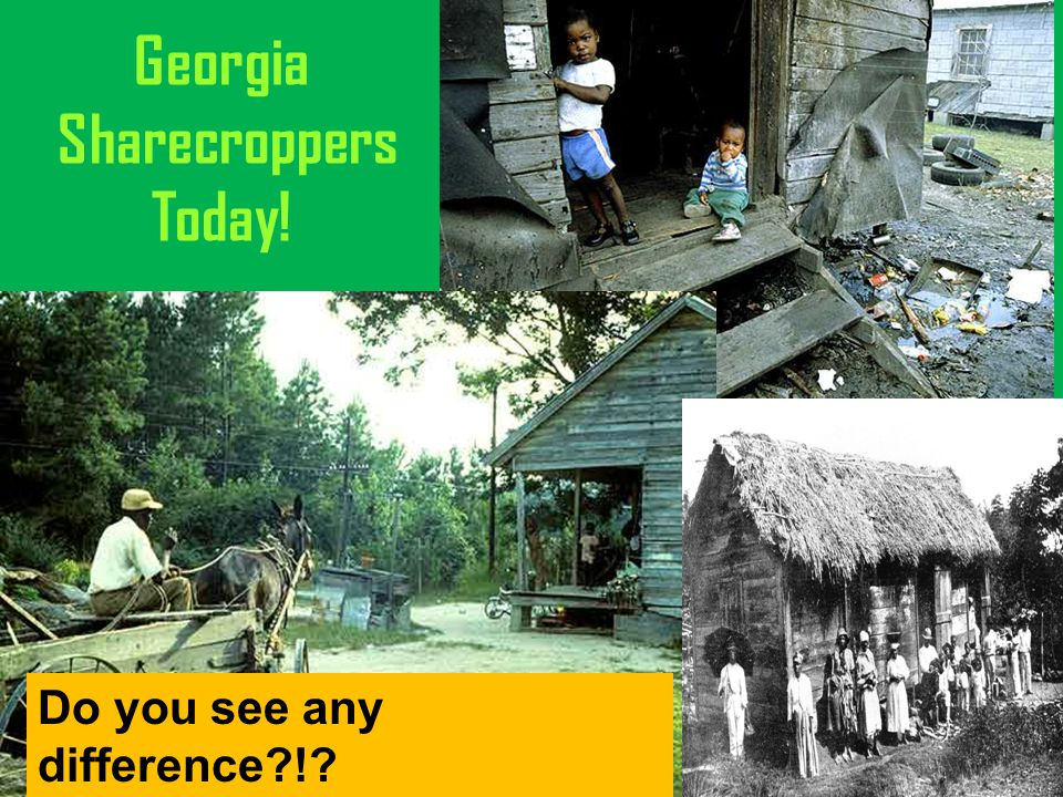 Georgia Sharecroppers Today! Do you see any difference?!?