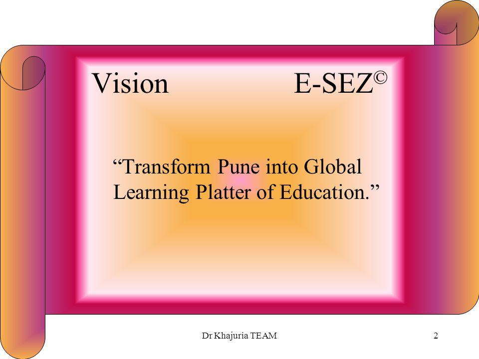 Education SEZ © Pune © Dr Rajesh Khajuria TEAMPro Limited, UK – India Building Knowledge Society©