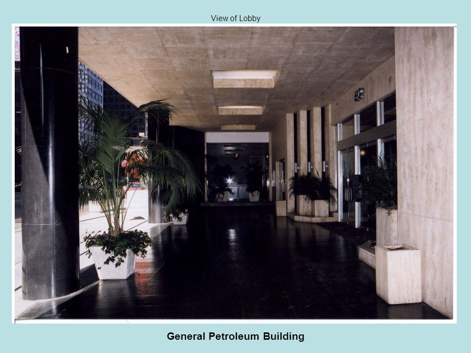 General Petroleum Building View of Lobby
