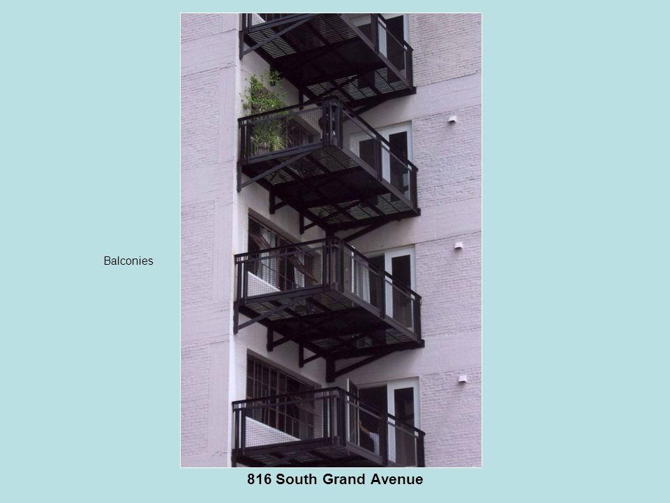 816 South Grand Avenue Balconies