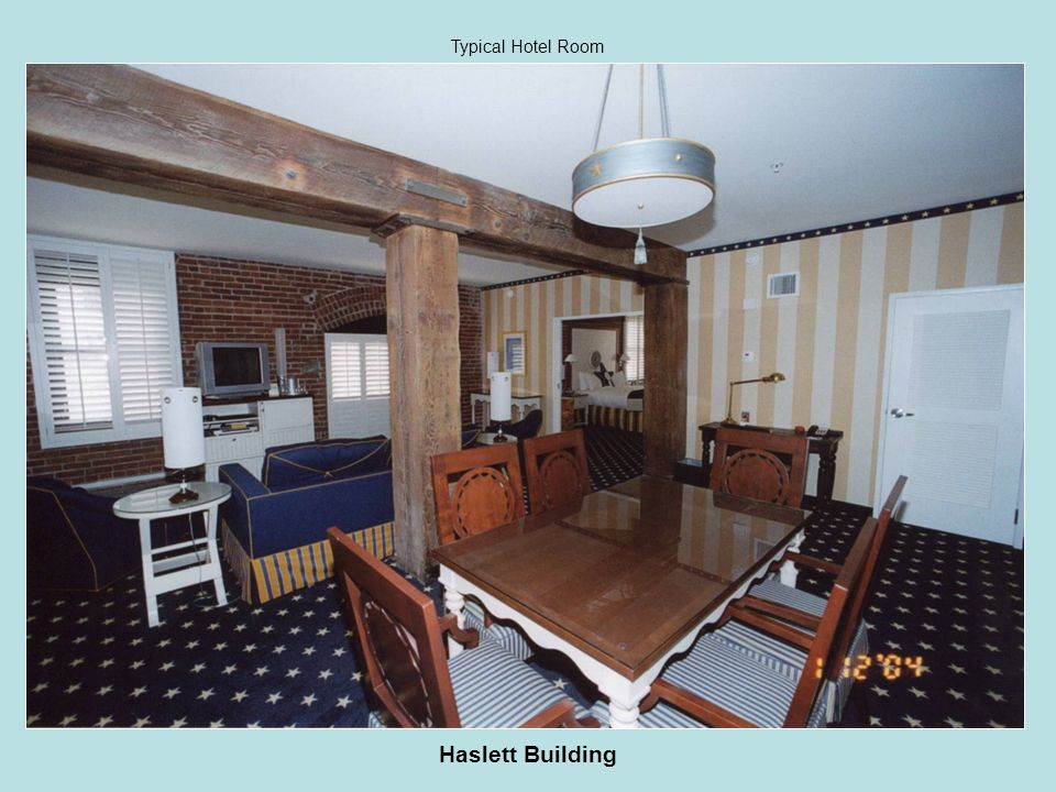 Haslett Building Typical Hotel Room
