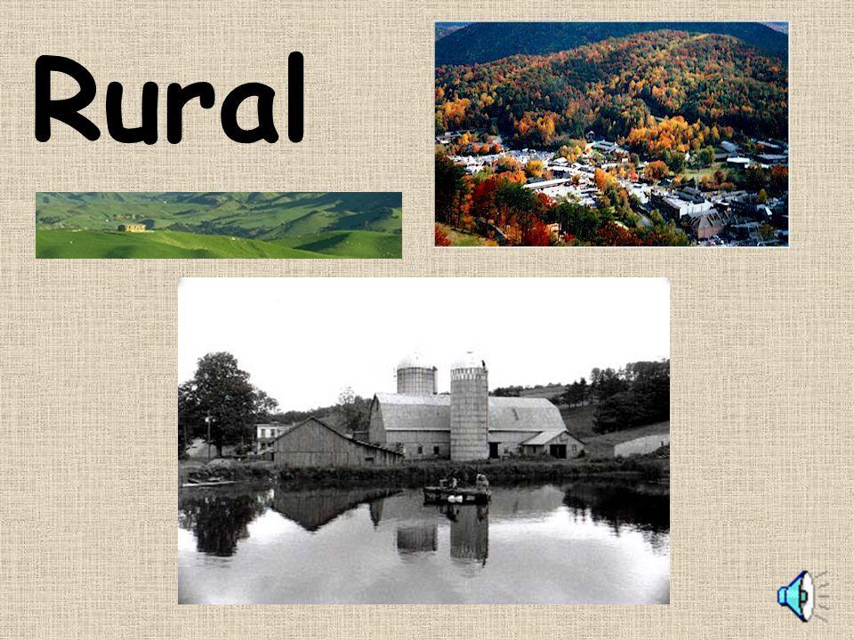 Rural homes and landscape