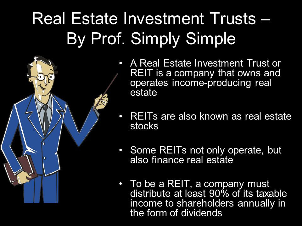 Real Estate Investment Trusts – By Prof.