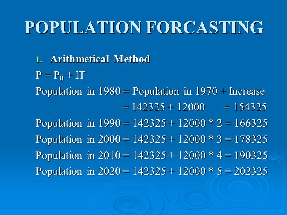 POPULATION FORCASTING 1.