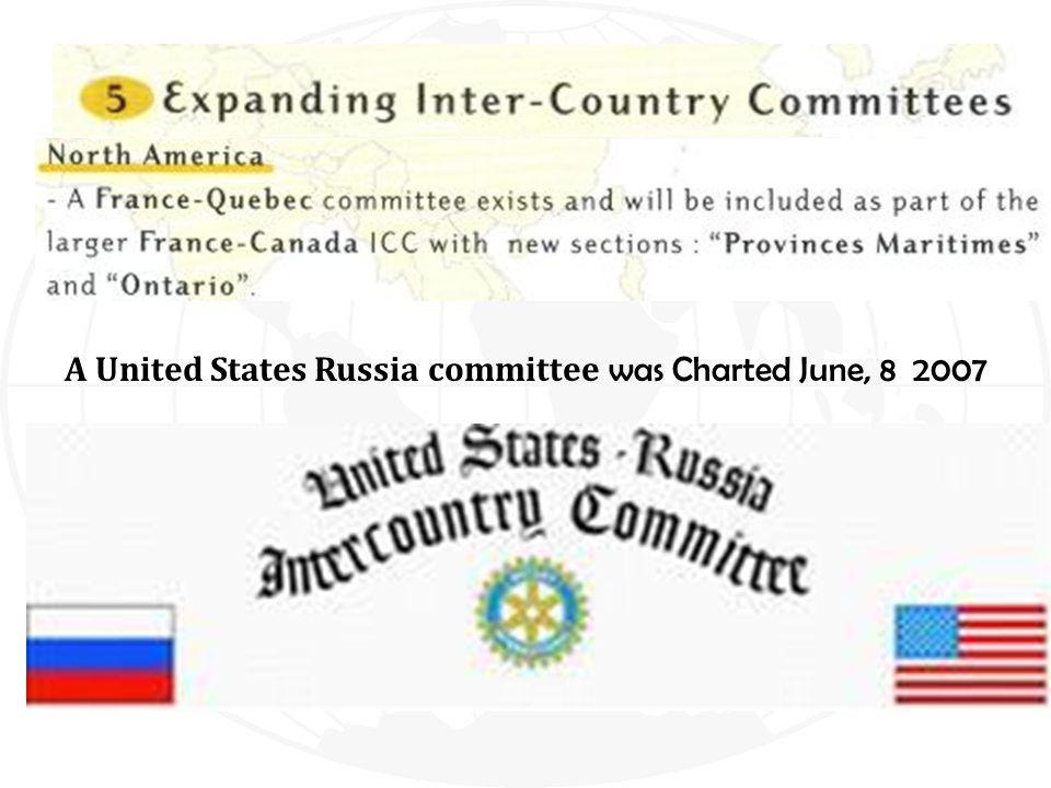 A United States Russia committee was Charted June, 8 2007