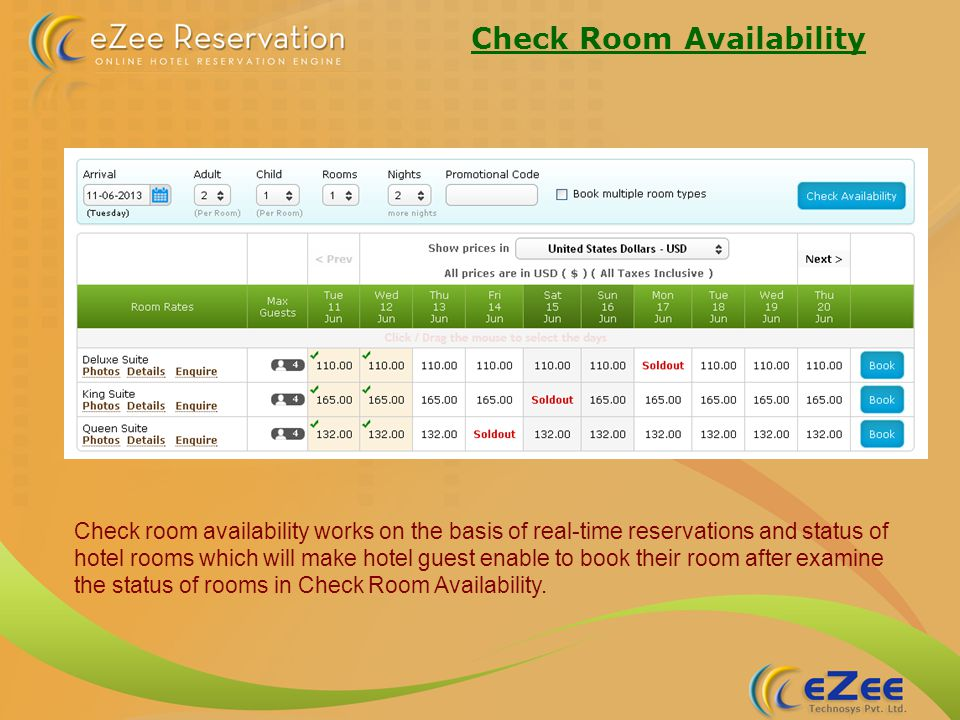Sub Admin Level Access eZee Reservation allows you to configure users for different level of roles & privilege to handle the management of your hotel.