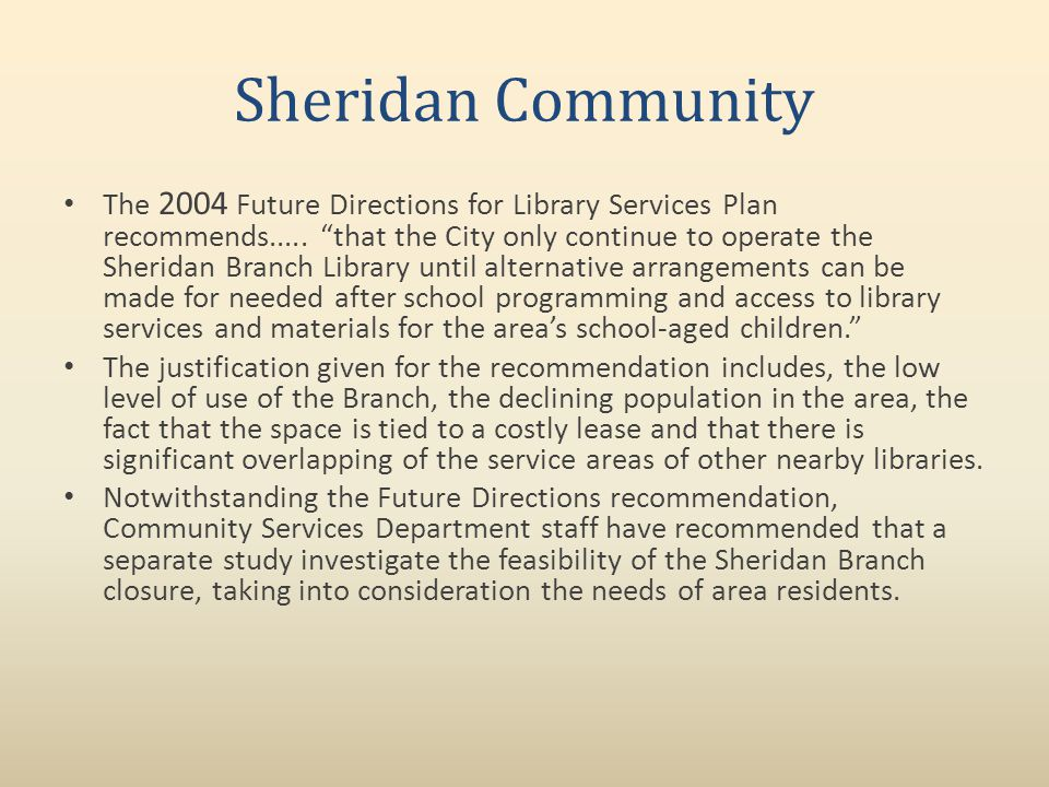 Sheridan Library