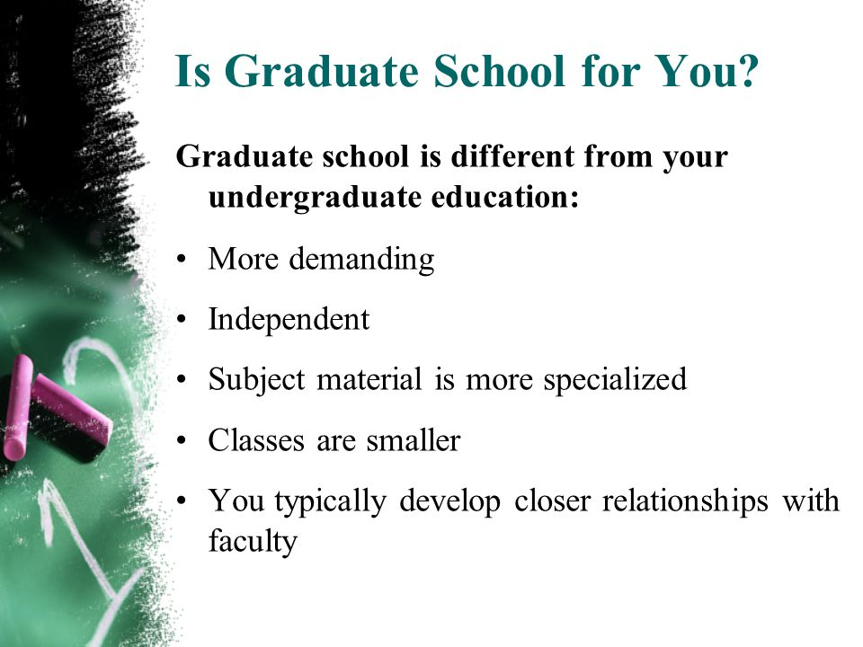 Is Graduate School for You.