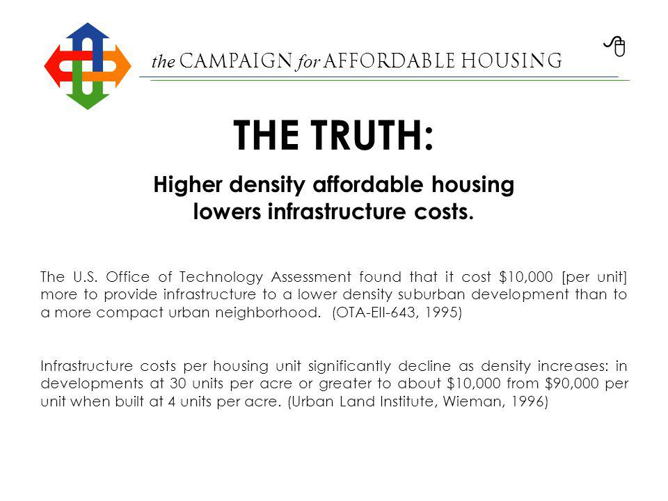 the Campaign for Affordable Housing Affordable housing comes in a size and design to fit every community.