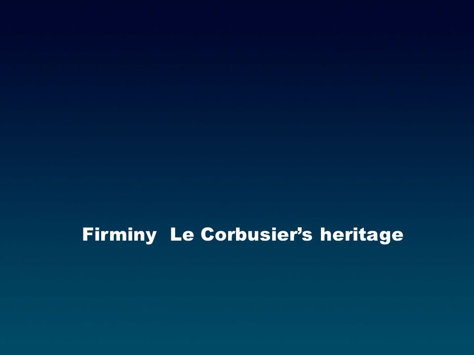 Firminy Le Corbusiers heritage