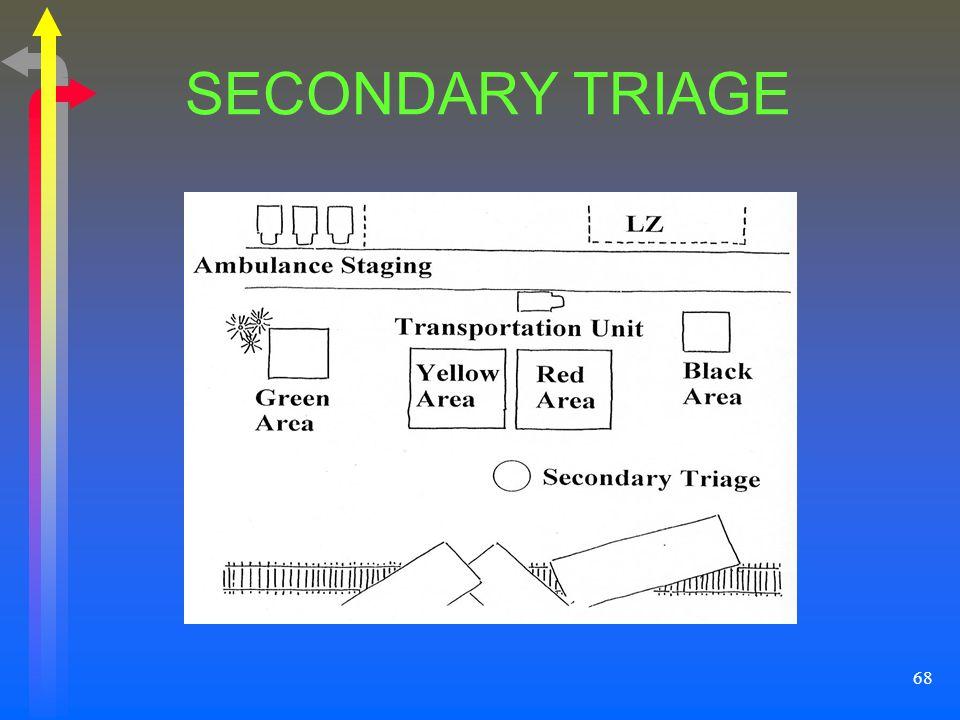 68 SECONDARY TRIAGE
