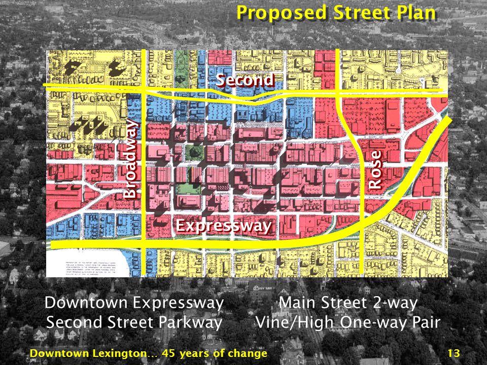 Downtown Lexington… 45 years of change12 Illustrative Development Plan