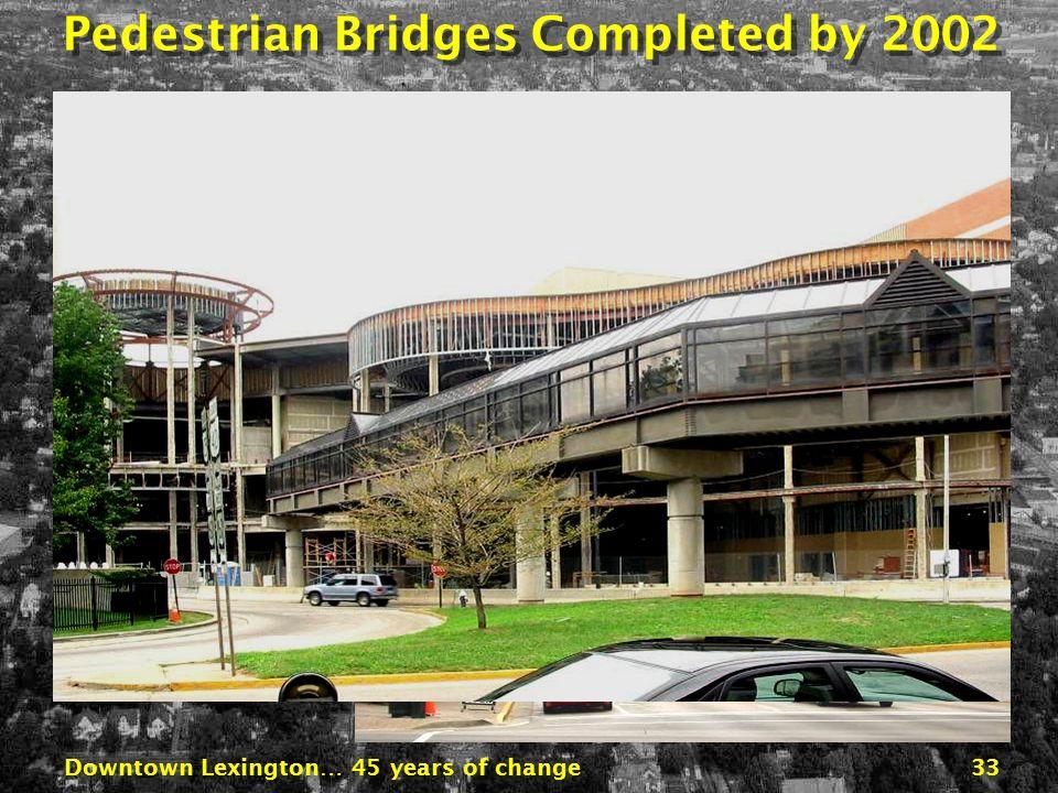 Downtown Lexington… 45 years of change32 1980 1965 Pedestrian Bridges Proposed