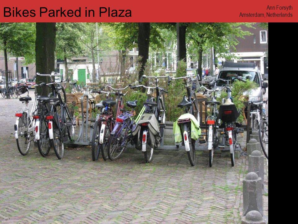 www.annforsyth.net Bikes Parked in Plaza Ann Forsyth Amsterdam, Netherlands
