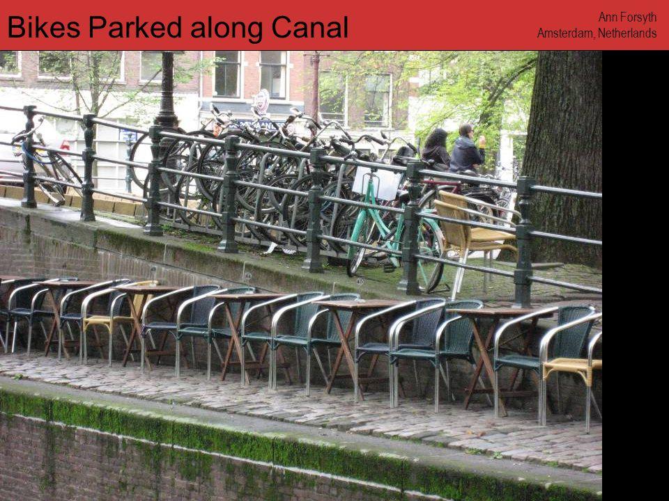 www.annforsyth.net Bikes Parked along Canal Ann Forsyth Amsterdam, Netherlands