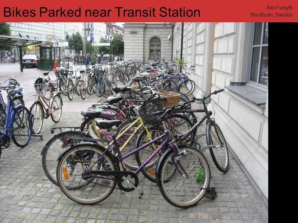 www.annforsyth.net Bikes Parked near Transit Station Ann Forsyth Stockholm, Sweden