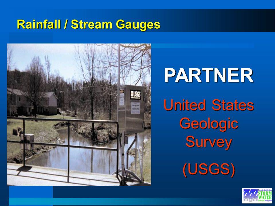Rainfall / Stream Gauges PARTNER United States Geologic Survey (USGS)