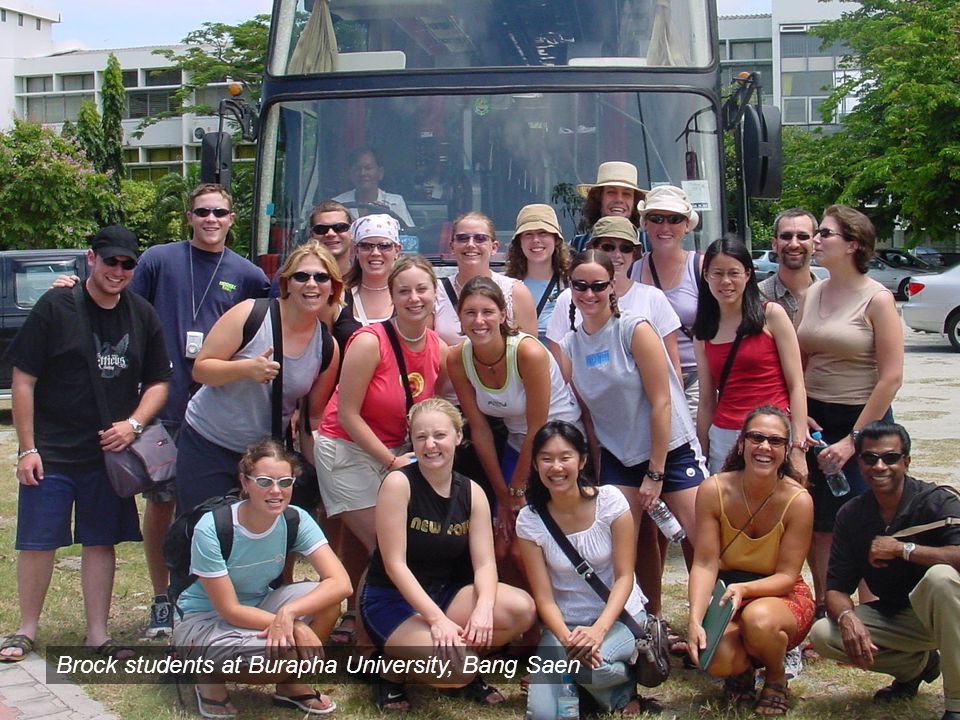 Brock students at Burapha University, Bang Saen