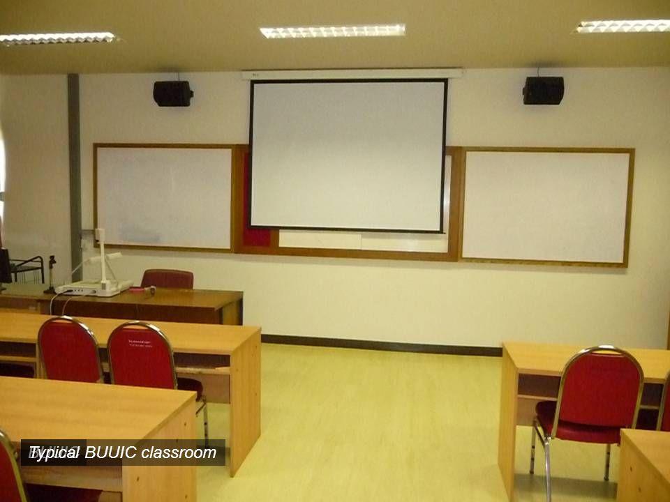 BUUICTypical BUUIC classroom