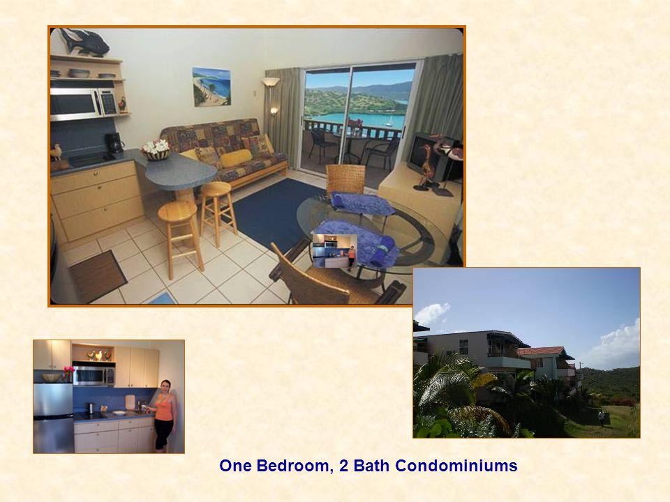 One Bedroom, 2 Bath Condominiums