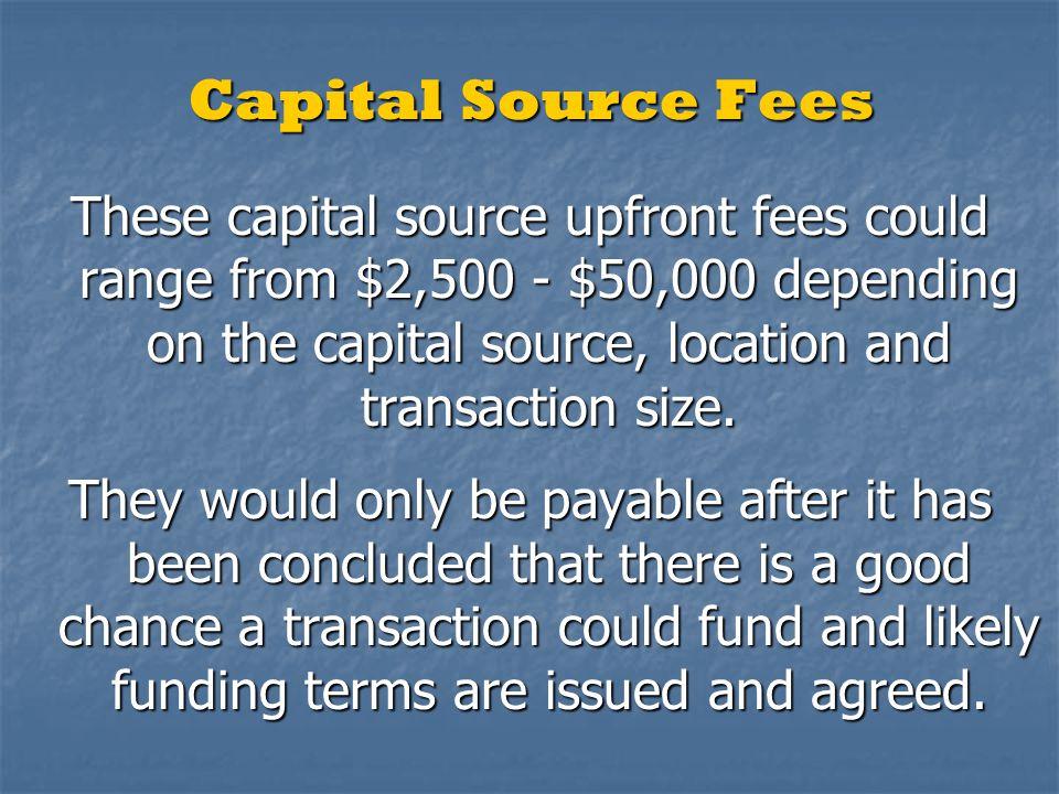 Funding Minimums Domestic US Project - $5.0 million International Project - $10.0 million In-Ground + Asset Monetization - $50mil