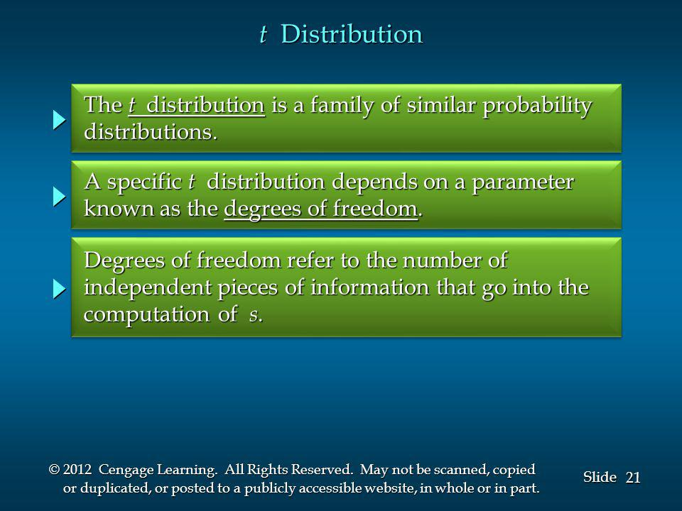 21 Slide © 2012 Cengage Learning. All Rights Reserved.
