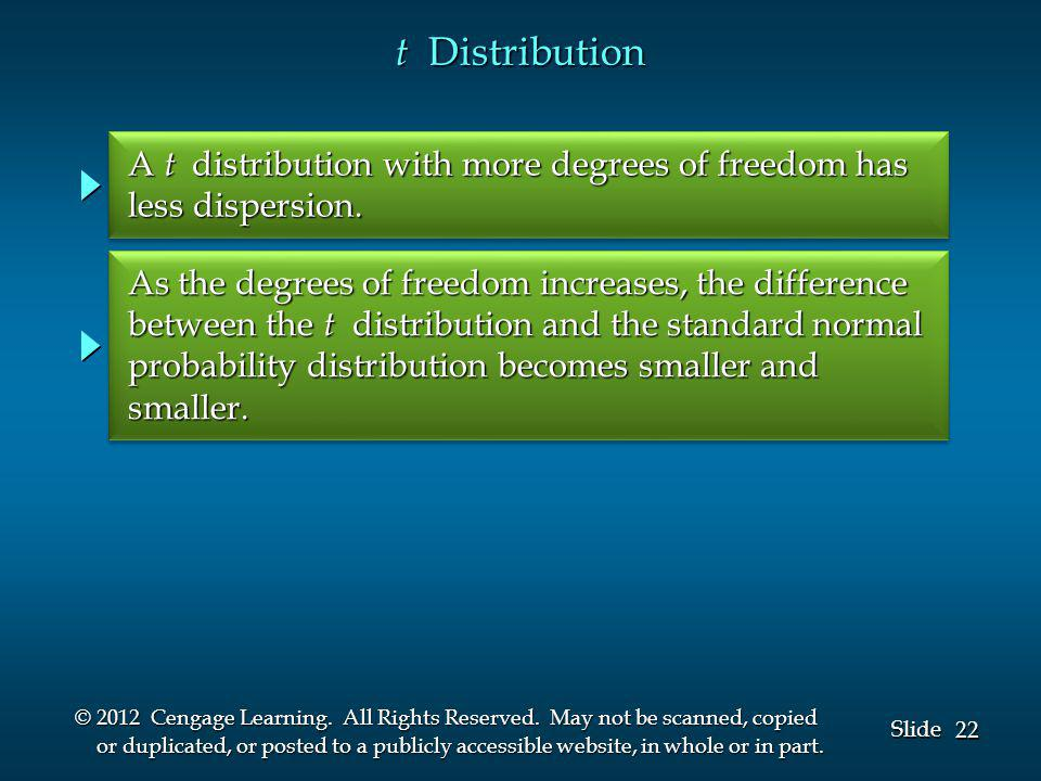 22 Slide © 2012 Cengage Learning. All Rights Reserved.