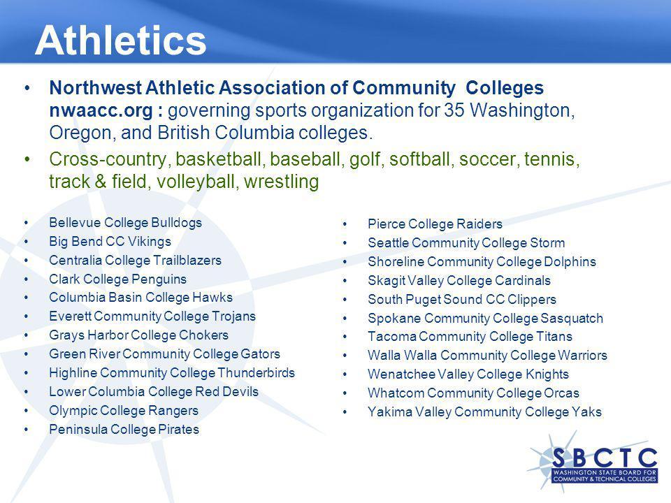 Athletics Northwest Athletic Association of Community Colleges nwaacc.org : governing sports organization for 35 Washington, Oregon, and British Colum