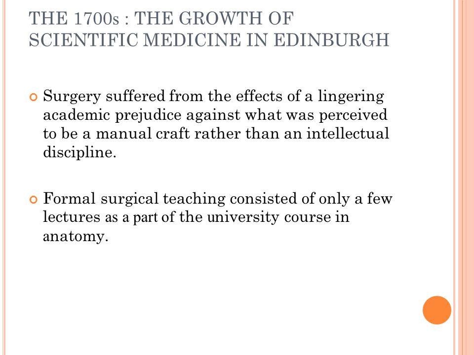 R OBERT K NOX In 1810, he joined medical classes in Edinburgh.
