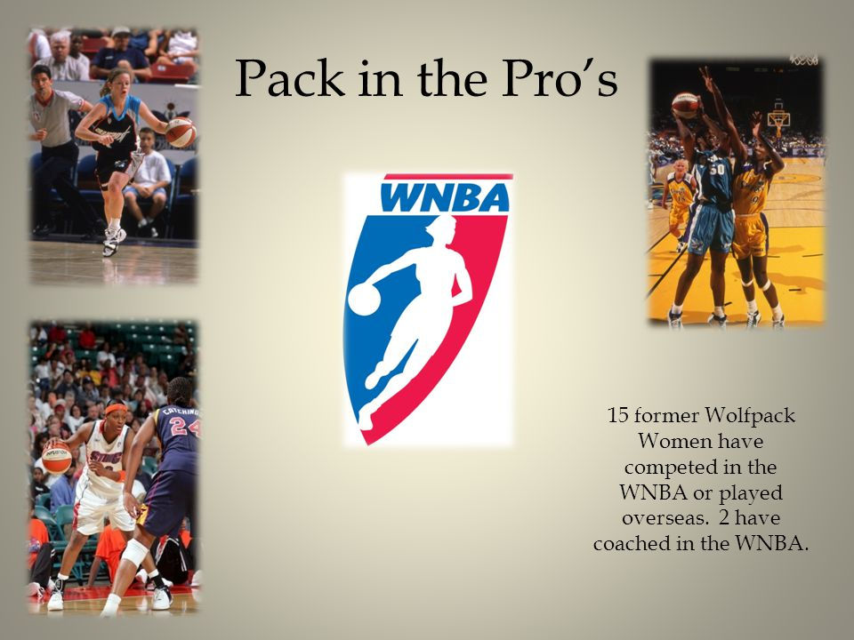 Pack in the Pros 15 former Wolfpack Women have competed in the WNBA or played overseas.