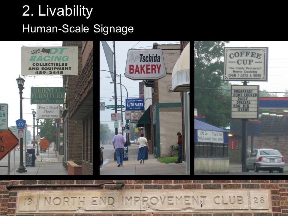 2. Livability Human-Scale Signage