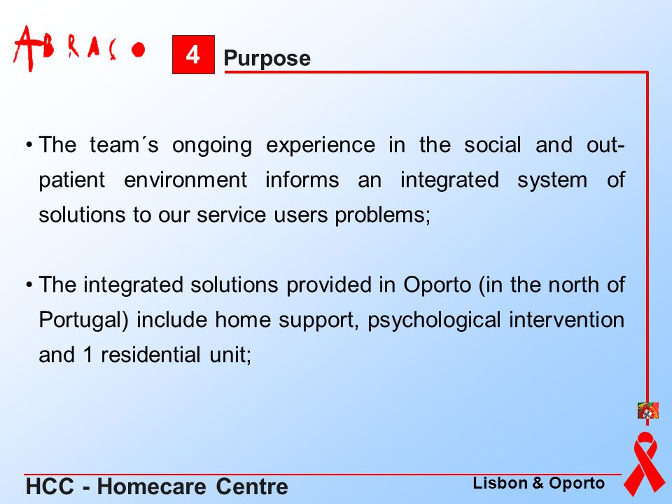 The team´s ongoing experience in the social and out- patient environment informs an integrated system of solutions to our service users problems; The