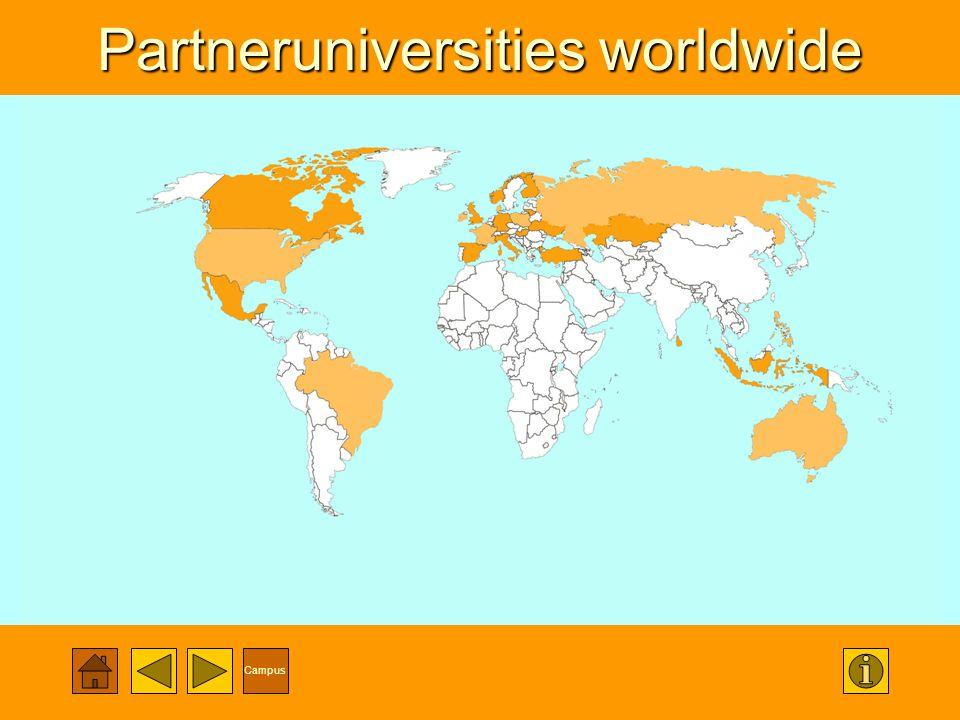 Campus Partneruniversities worldwide