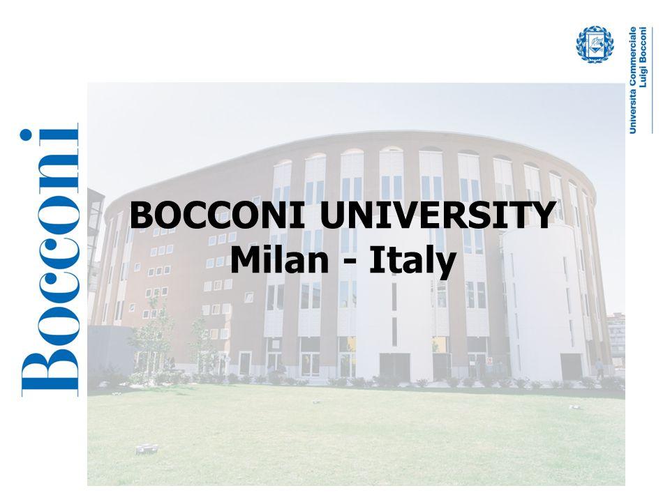 BOCCONI UNIVERSITY Milan - Italy