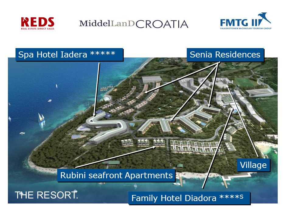 Rubini seafront Apartments Family Hotel Diadora **** S Spa Hotel Iadera ***** Senia Residences Village THE RESORT.