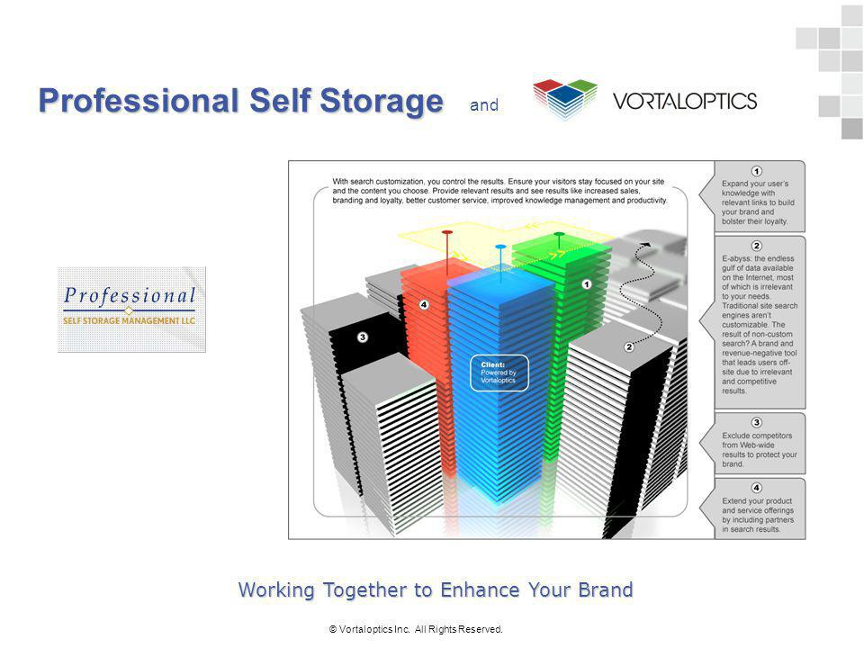 Professional Self Storage © Vortaloptics Inc. All Rights Reserved. and Working Together to Enhance Your Brand