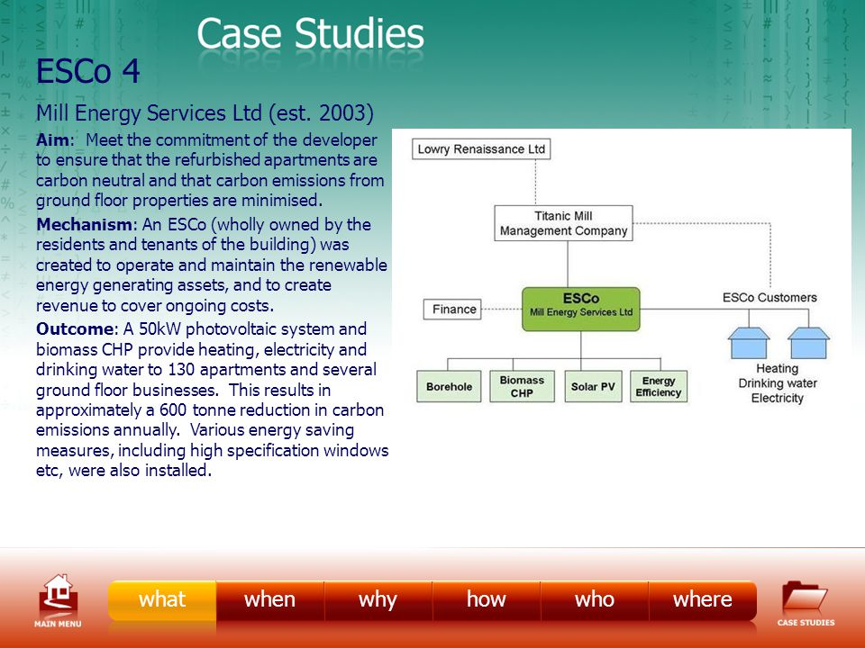 ESCo Case Study 4 Mill Energy Services Ltd (est.