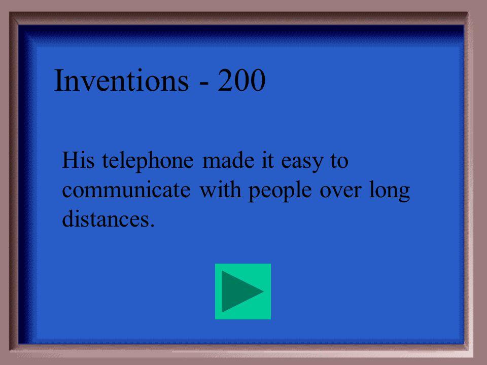 Inventions - 100 Thomas Edison