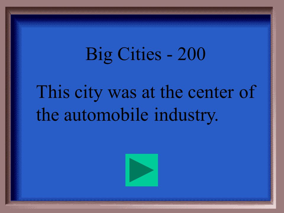 Big Cities - 100 Pittsburgh