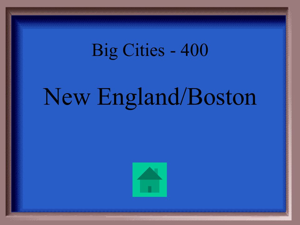 Big Cities - 400 The textile industry thrived in this area, where many Irish immigrants settled. Basketball hint: Irish people are sometimes referred