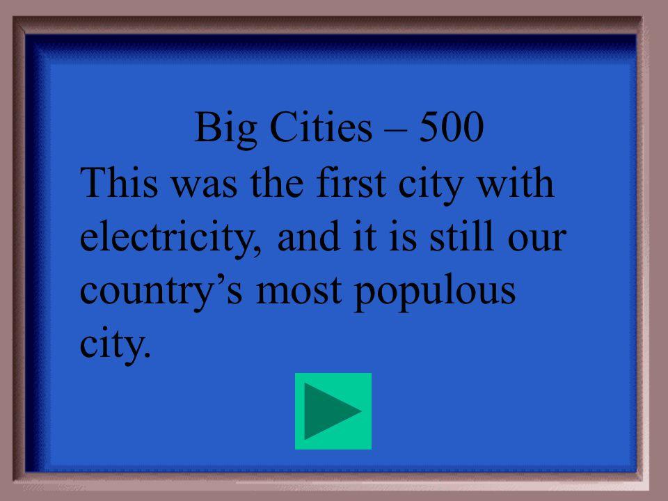 Big Cities - 400 New England/Boston