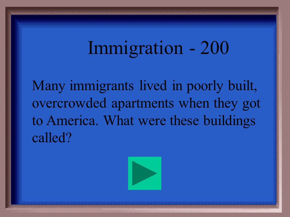 Immigration - 100 Religious Freedom Opportunity for a better life ($$) Escape from Oppressive Governments Adventure