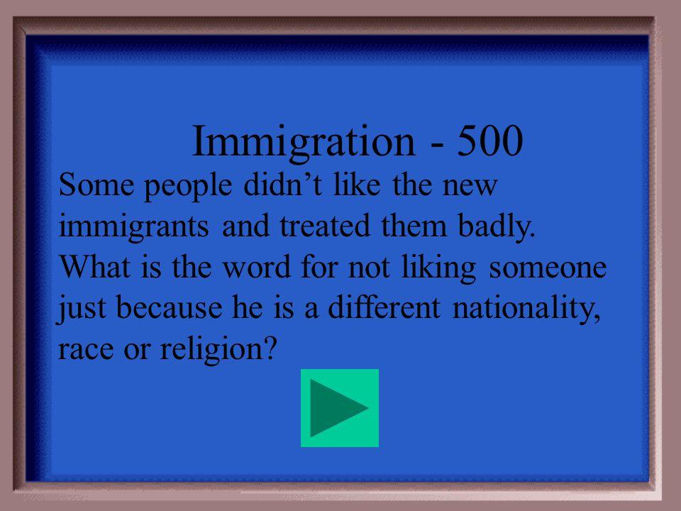 Immigration - 400 Ghettos